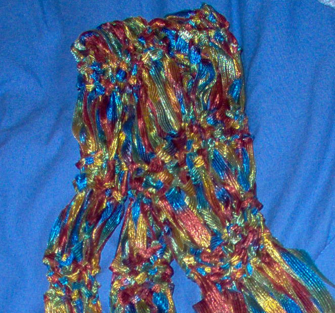 Knitting Pattern Ribbon Yarn Scarf : Ribbon Scarf Knitting Pattern Pictures - Inspirational Pictures